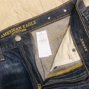 NWT American Eagle Mens Dark Loose Jeans